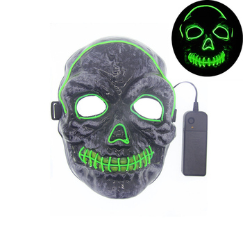 Halloween Skull Scary Mask Cosplay LED Costume EL Wire Light up for Festival Party Nine Colors D35