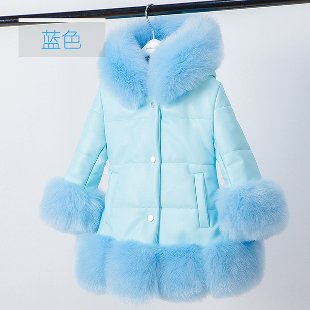 2018 winter thick warm little girls clothing 3-14 yrs baby girl vintage noble long coat halloween christmas thanksgiving outfits