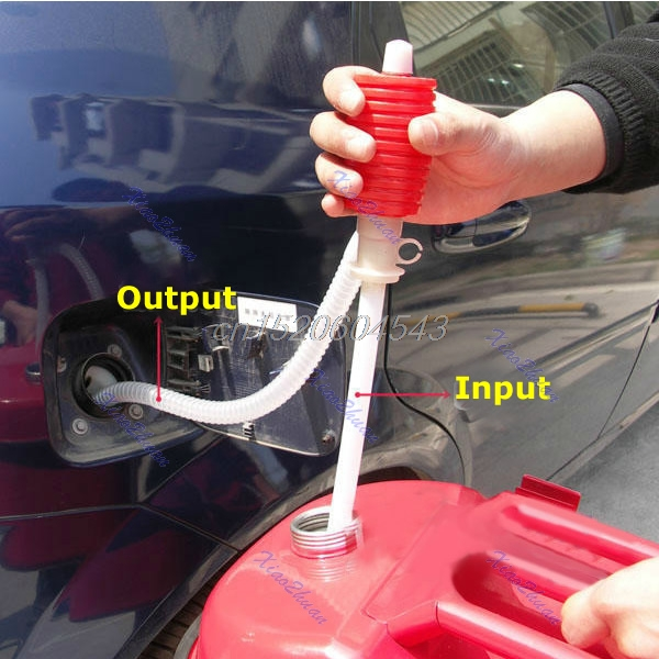 Portable Car Manual Hand Siphon Pump Hose Gas Oil Liquid Syphon Transfer Pump R02 Whosale&DropShip