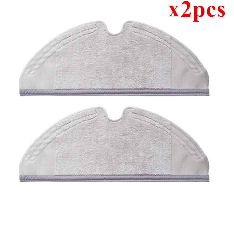 2pcs Roborock Parts Mop Cloths Suitable for Xiaomi Vacuum Cleaner Generation 2 Dry Wet Mopping Cleaning 2pcs original roborock s50 s51 parts mop cloths for xiaomi vacuum cleaner generation 2 dry wet mopping cleaning