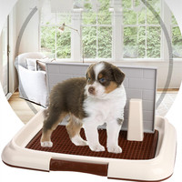 Dog toilet grid flat column pet potty with wall dog urinal Pet toilet cleaning supplies