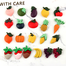 10pcs/lot Resin Fruit Decoration Crafts Kawaii Flatback Cabochon Embellishments For Scrapbooking DIY AccessoriesButto