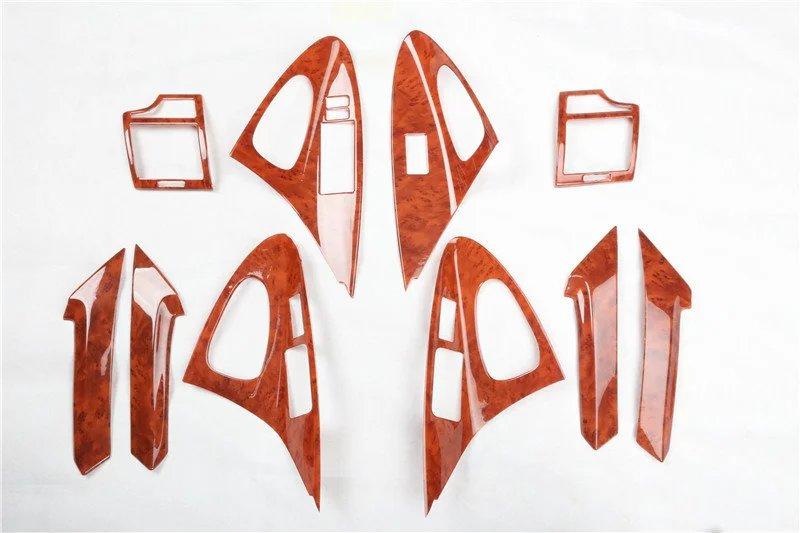 Pour Toyota Camry 2006-2011 intérieur couleur bois intérieur moulure garnitures panneau cadre superposition voiture style accessoires
