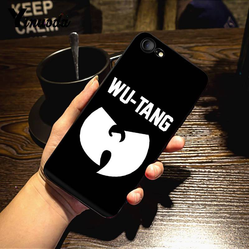 Yinuoda Wu Tang Wu Tang Clan Ultra Thin Cartoon Phone Case for iPhone 7 6 X Case 6S 6plus 7 7plus 8 8Plus X 5 5S XS XR XSMAX in Half wrapped Cases from Cellphones Telecommunications