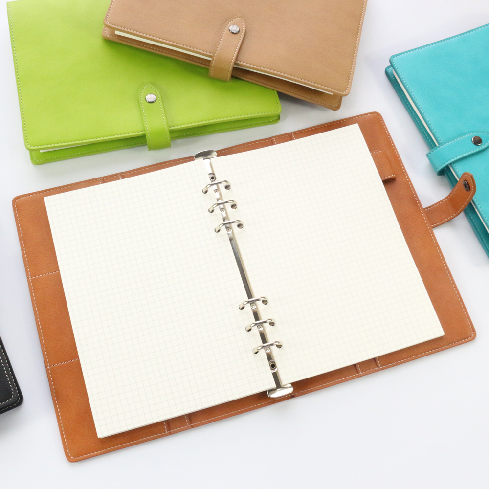 Domikee new classic soft cover leather spiral binder notebooks,fine office school binder agenda planner organizer stationery A5 domikee new classic pu leather office school paper document manager holder fine writing pad manager clipboard stationery b5