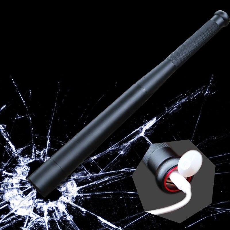 8000 lumens Self Defense LED Flashlight powerful baseball bat flashlight USB charger L T6 bulit in 18650 battery torch