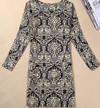 M-4XL Women Clothing 2018 Spring Fall Fashion Flower Print Women Dress Ladies Long Sleeve Casual Autumn Dresses Vestidos
