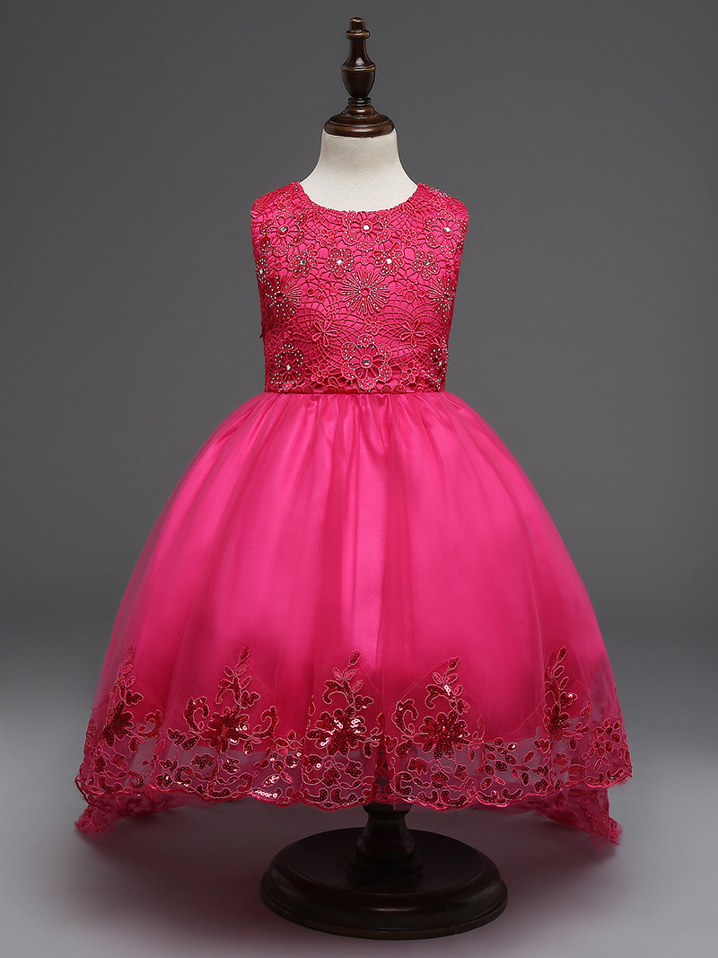 SO Beautiful Baby Girls Party Children Dresses Baby Kids Dresses For Girls Princess Wedding 4-12T vestidos infantil Party Dresse baby girls dresses 100