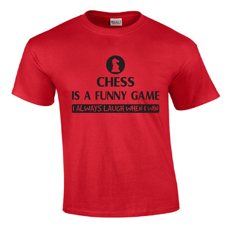 0cd0a3e8c drop shipping hot sale printed men t shirt Chess Is A Funny Game   Chess T  shirt cotton 100% casual tees and tops homme tshirt-in T-Shirts from Men's  ...