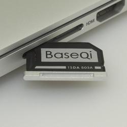 503A الأصلي BASEQI الألومنيوم مينيدريف مايكرو SD بطاقة محول قارئ بطاقات لماك بوك برو retina15 ''نموذج منتصف 2012/أوائل 2013