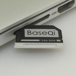 503A Original BASEQI aluminio MiniDrive Micro SD tarjeta adaptador lector para Macbook Pro Retina15'' modelo a mediados de 2012/temprano 2013