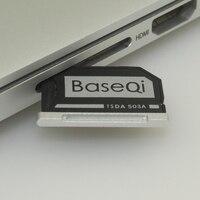 Barato 503A Original BASEQI aluminio MiniDrive Micro SD tarjeta adaptador lector para Macbook Pro Retina15'' modelo a mediados de 2012/temprano 2013