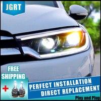 2PCS LED Headlights For Citroen C3 XR 15 17 Car Led Lights Double Xenon Lens Car Accessories Daytime Running Lights Fog Light