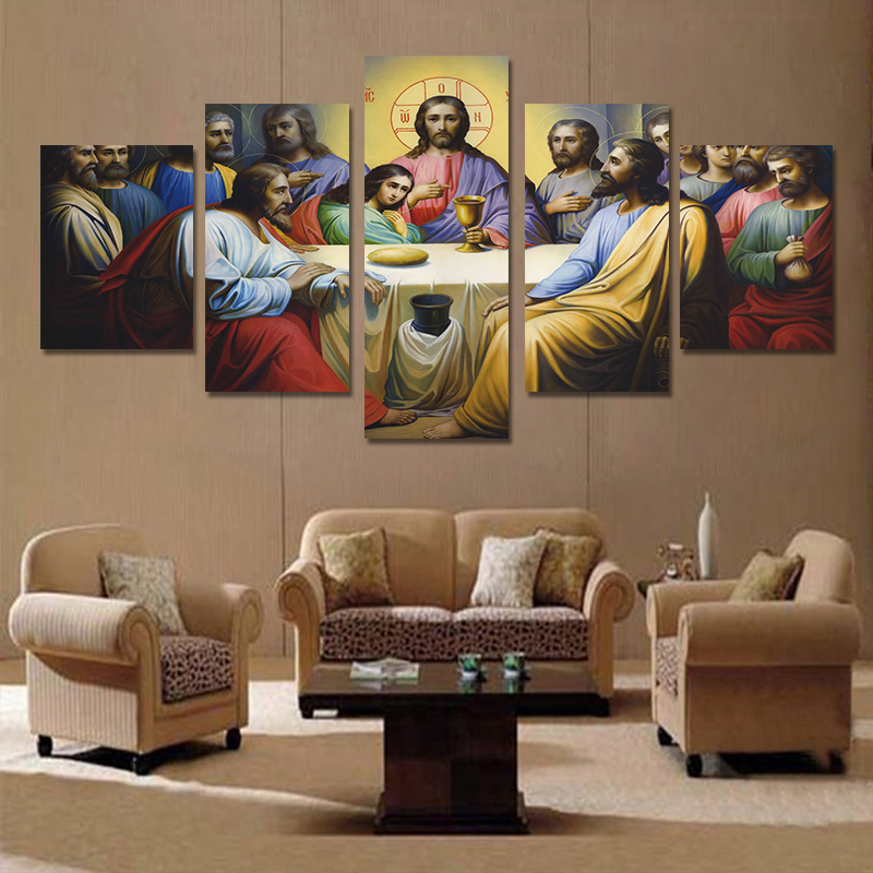 Oleo Composed The Last Supper Oil Painting Christian Art On Canvas Unframed Spray Printed Wall Decor Pintura In Calligraphy From Home