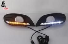 2x Luz de Conducción del LED Luz Corriente Diurna DRL faros de Niebla Para Ford Focus Clásico Estilo 2009-2011