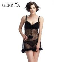 GERRITA Sale Plunge Fashion Merry Christmas Bras Underwear Women Set Lingerie Sexy Cup Ultrathin Transparent Bra Panties
