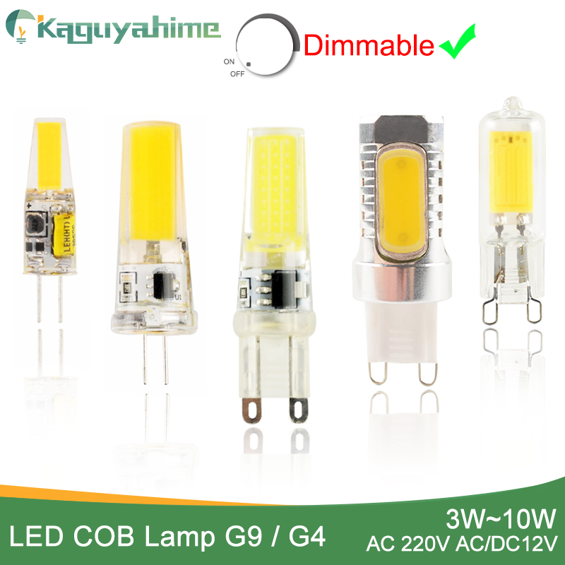 Kaguyahime LED Lamp G9 G4 led bulb Dimmabl AC/DC 12V 220V 3W 6W 10W COB SMD LED G4 G9 replace Halogen light Spotlight Chandelier 10pcs led g4 lamp 220v g4 led bulb light ac dc 12v 10w 6w smd 2835 3014 spotlight 360 beam angle replace for crystal chandelier