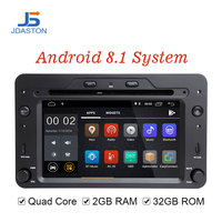 JDASTON Android 8,1 автомобильный мультимедийный плеер для Alfa Romeo Spider Brera 159 Sportwagon 1 Din автомагнитола 2 г + г 32 г gps Navi автомобильный DVD RDS