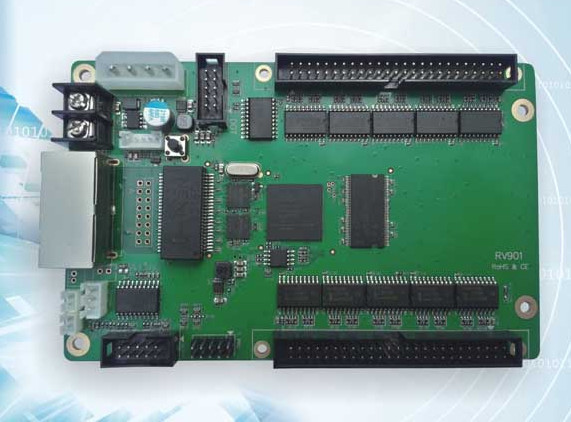 Estúdio linsn RV901 1024 * 256 pixel display led recebe o cartão, Compatibilidade RV801 / sd801, Apoio estática, Versão atualizada RV801