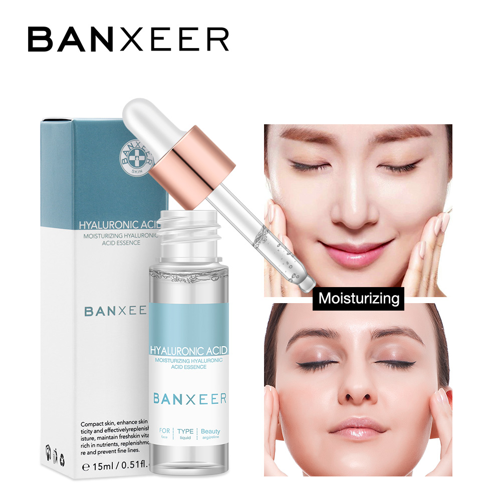 BANXEER Face Serum Dropper Hyaluronic Acid Clear Essence Moisturizing Essence Anti-Aging Whitening For Female And Male