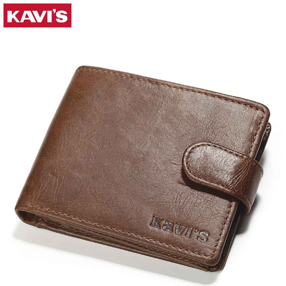 KAVIS Genuine Leather Wallet Men Small Coin Purse Male Cuzdan Walet Portomonee Mini Slim Perse PORTFOLIO Vallet Card Holder Rfid mingclan genuine leather wallet men coin purse male cuzdan small wallet portomonee portfolio slim mini purse wallet money bag