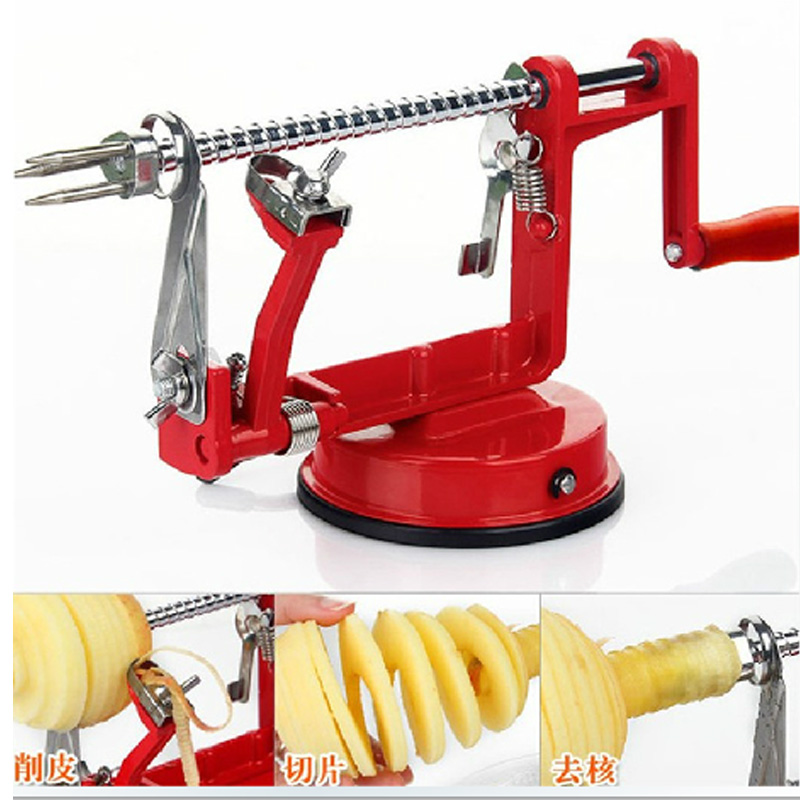 3 in 1 Multifunctional Xiaoping Guo machine peeled and pitted sliced apple peeler machine creative home kitchen tools