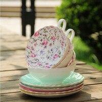영어 오후 차, 고급 뼈 중국 커피 컵과 접시, 일본식 유럽 컵, 무료 배송