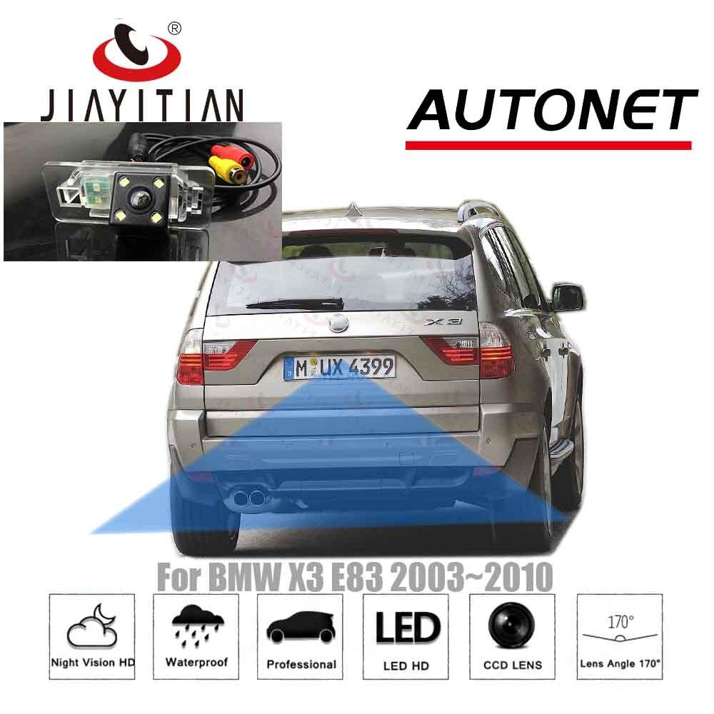 Cámara trasera JiaYiTian para BMW X3 E83 2003 ~ 2010 2005 2004 2007, cámara de respaldo, CCD visión nocturna, cámara de marcha atrás, cámara para matrícula