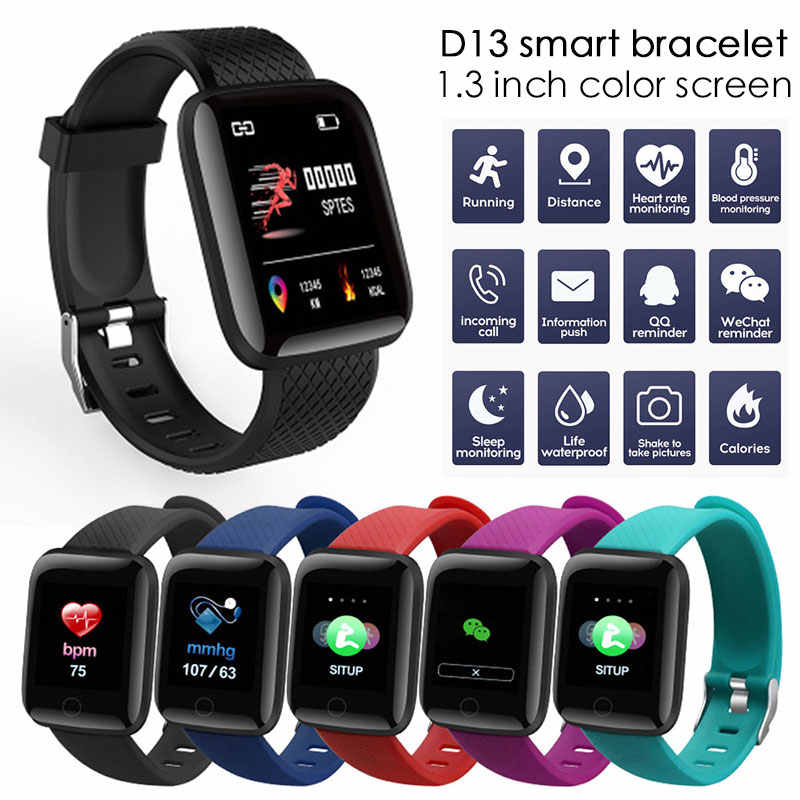 Cewaal D13 Smart Watch Men Women For Android Apple Phone Waterproof Heart Rate Tracker Blood Pressure Oxygen Sport Smartwatch