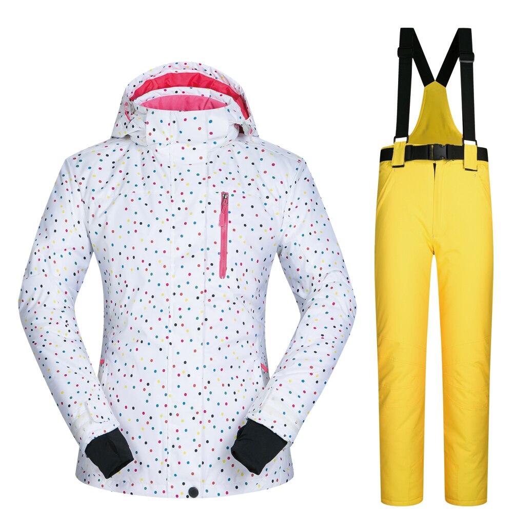 Snowboard costumes femmes vêtements veste de Ski et pantalon neige ensembles BDD extérieur coupe-vent imperméable vêtements hiver Ski costume marques - 6