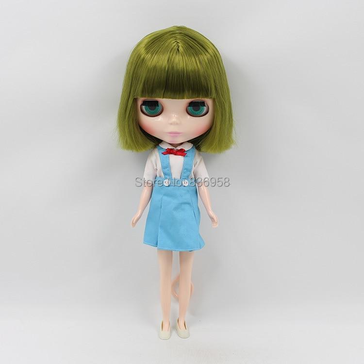 送料無料ブライス人形氷リカちゃん BL4289 グリーンショートヘア前髪/フリンジノーマルボディ 1/6 30 センチメートル  グループ上の おもちゃ & ホビー からの 人形 の中 2