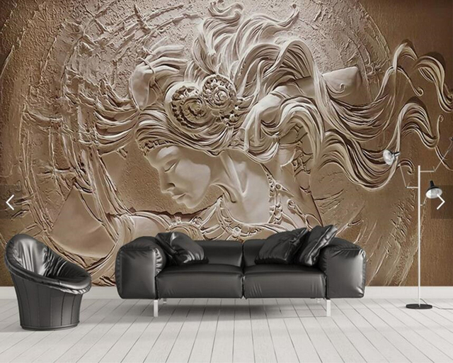 budget benutzerdefinierte dreidimensionales relief tapete. Black Bedroom Furniture Sets. Home Design Ideas