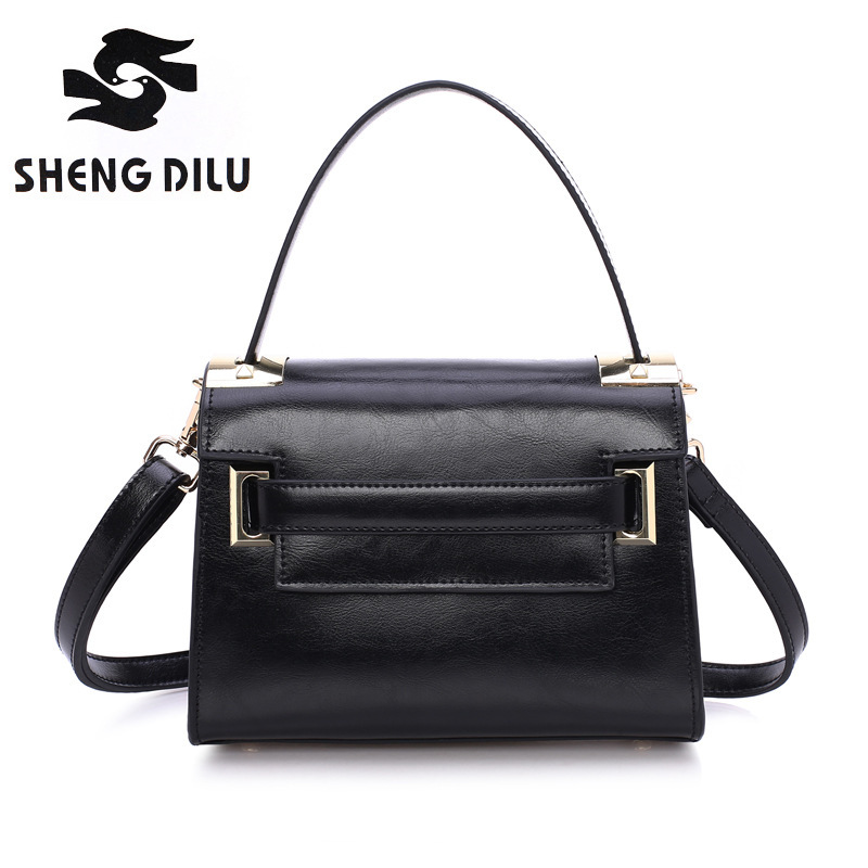 Simple small square package shengdilu brand new 2017 women genuine leather tote shoulder bag Messenger bag free Shipping yuanyu 2018 new hot free shipping true python leather women single shoulder small real snake leather small sweet women chain bag