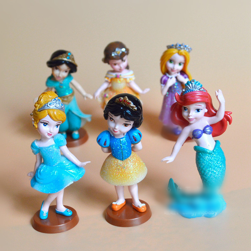 HERMOSO 9cm Snow White/Tina/Mermaid ariel dolls princesses Anime Figures Toys For Girls Gift Puppe boneca bambola
