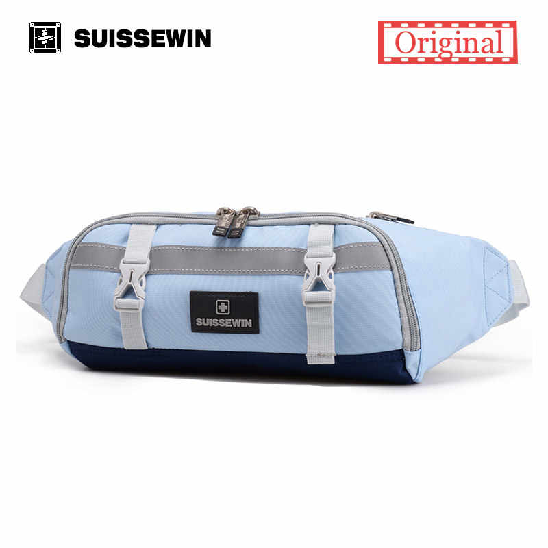 286ec23987c ... Suissewin Supreme Waist Pack Women Small Fanny Pack Femme Girls Chest  Bag Money Belt Bag Men ...