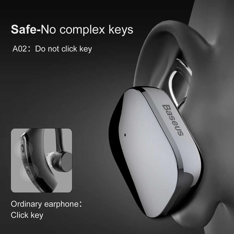 Baseus Mini Bluetooth słuchawki głośnomówiący bezprzewodowy zestaw słuchawkowy Bluetooth słuchawki z mikrofonem 4.1 zaczep na ucho Earbuds słuchawki na telefon