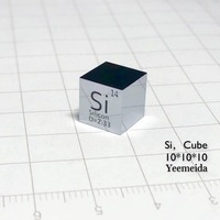 Silicon MIRROR POLISHED Metal 10mm Density Cube 99.9999% Pure for Element Collection