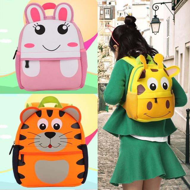 908091391ae22 الأطفال 3d لطيف الحيوان الزرافة القرد البومة تصميم مدرسة الروضة الكرتون  ظهره حقيبة الظهر طفل أطفال