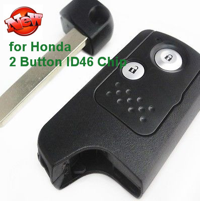 New Replacement High Quality Uncut Smart Remote Key Fob 2 Button 433Mhz ID46 Chip for Honda CR-V new remote key fob 3 button 433mhz id83 for mazda cx 5 ske13e 01 uncut blade