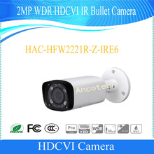 Free Shipping Original DAHUA English Version Outdoor Camera 2MP WDR HDCVI IR Bullet Camera IP67 without Logo HAC-HFW2221R-Z-IRE6