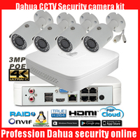 Dahua 4Ch 1080P NVR4104 P Kit Bullet IP Camera System P2P 4 Channel POE NVR System