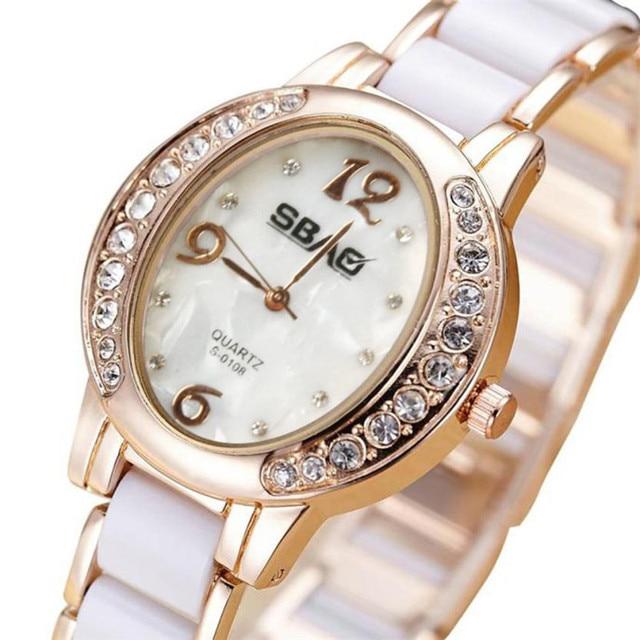 New Fashion 2018 Luxury Exquisite Rhinestone Dial Watches Women Quartz femme Bra