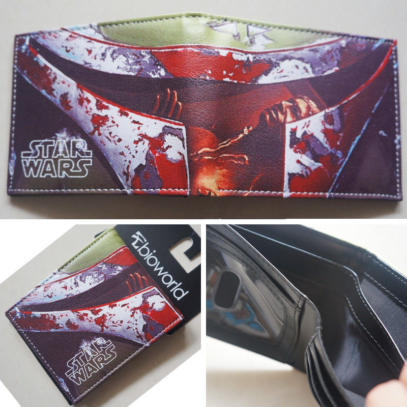 2018 New arrivel Movie Star Wars Series LOGO wallets Purse Multicolor Leather Man women W023 2018 epic game gears of war logo wallets purse red leather man women new w135