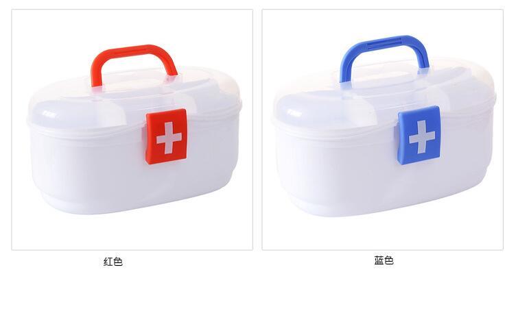 STB1-Plastic caja de medicina familiar de primeros auxilios multicapa caja de almacenamiento de medicamentos para niños