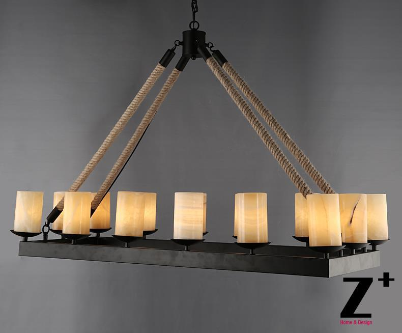America Style Industry Country Pillar Candle Rectangular Chandelier Vintage Iron Marble Made Retro Free In Chandeliers From Lights Lighting On