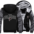 New Football Team Atlanta Falcons Zipper Jacket Sweatshirts Printing Pattern Thicken Fleece Hoodie Coat Men Women USA size
