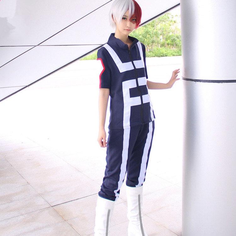Anime Boku No Hero Bakugou My Hero Academia OCHACO URARAKA Midoriya Iida School Sportswear Cosplay Costume Tops+Pants