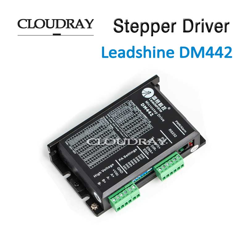 Cloudray Stepper Motor Driver 2 Leadshine Phase DC Motor Driver Controller For Nema 17 to Nema 23 Motor CNC Stepper System DM442 brushless motor driver 24v 200w bldc motor driver controller for 180w dc dc fan or motor 7 15a