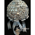 Luxuries 2015 Silvery Crystal Wedding Bouquet Fashion Bling Bling Bridal Bouquets Wedding Accessories Bouquest De Mariage