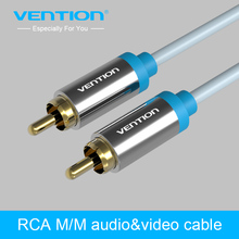 Vention RCA Audio Cable Jack to RCA AUX Cable 1m 1.5m 2m Male To Male Stereo Video Cable  Coaxial Cable for Laptop TV DVD VCD